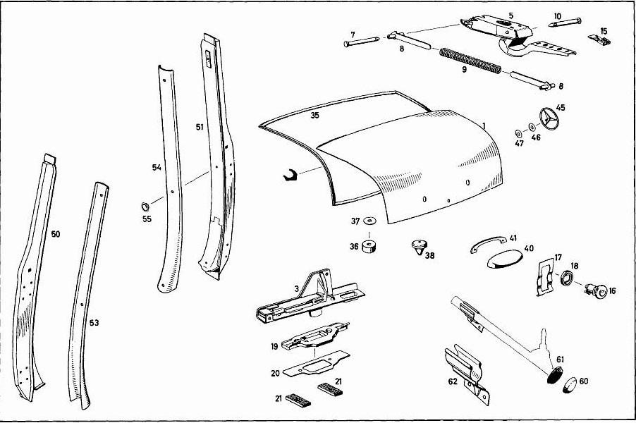 89 Halter Fur Wagenheber Mercedes Benz Oldtimer Ersatzteile